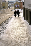 Slippery pavement  - Oscars gate
