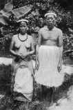 1911 Marshallese Chiefly Couple in Traditional Dress