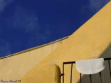 Yellow angle and blue sky