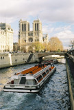 Notre Dame Cathedral and Bateau Mouche