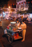Street vendors making salads, Saigon