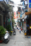 Narrow residential street in Saigon