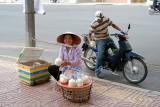 Fresh coconuts vendor, Saigon