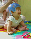Aiden with his new helmet