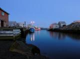 Peggys Cove harbour in the pre-dawn light