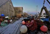 Peggys Cove Wharf at dawn
