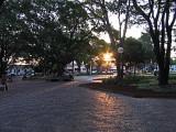 Evening in a public square, Sao Carlos