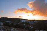 Snowy sunset 300110.