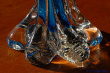 Foot of glass vase.