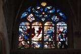 Stained glass window, Saint-Étienne-du-Mont