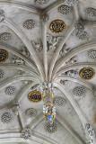 Detail of the ceiling of the side aisle, Saint-Étienne-du-Mont