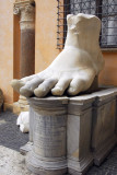 The foot of the colossus of Constantine, Musei Capitolini, Rome