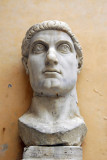 The head of the Colossus of Constantine (2.6m) Museo del Palazzo dei Conservatori courtyard