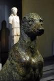 Statue of a dog in green marble, Sale degli Horti di Mecenate