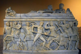 Sarcophagus with the Calydonian boar hunt and the goddess Artemis