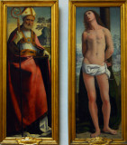 S. Nicola and S. Sebastiano from a polyptych by Ortolano ca 1520