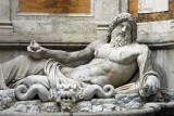 The large fountain of the River god Marforio dates from the 1st-2nd C. AD
