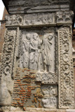 Carved panel on the Arch of the Money-changers, Rome