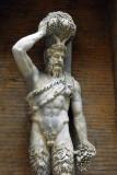 """Satiro Della Valle"""" 2.79m tall Hellenistic marble, Museo Capitolino"""