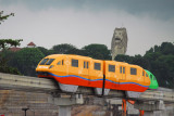 Sentosa Monorail with the Merlion