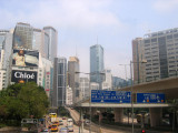 On the bus to the south side of Hong Kong Island