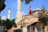 Four minarets were added to the Ayasofya after the Ottoman Turk conquest of Constantinople in 1453