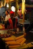 Food market with corn on the cob - Sultanahmet
