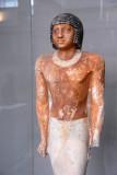 Tomb sculpture of Nenkheftka in painted limestone, ca 2200BC Deshasha