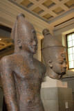Red granite standing figure of an 18th Dynasty king, ca 1450 BC, Karnak