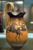 Jug (Olpe) with two young horsemen with spears, Corinthian ca 550 BC