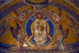 Fine mosaic over the alter of Bonn Minster of Christ in Heaven