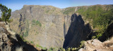 Panorama of the Geech Abyss and waterfall