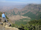 Keith along the Northern Escarpment, Simien Mountains National Park