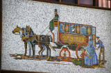 Mosaic of a stage coach, Adderley Street, Cape Town