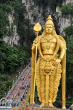 The largest Murugan statue in the world, 42.7m