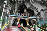 Top of the steps to the main cave, Batu Caves