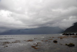 Looking east towards the threatening skies over Cagayan