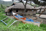 Fisherman's hut and boat along the Blue Lagoon Road, Pagudpud