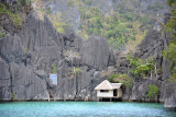 Arriving at the cove near Barracuda Lake, Coron Island
