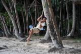 Dennis playing on a swing, Corong-Corong