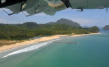 The long sandy beach by El Nido Airport