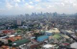 View towards Makati from short final Rwy 13 at MNL