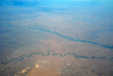 Great Zab River and a smaller tributary, Iraq, looking towards Erbil