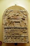 Funerary stele of the servant of Osiris Ankh-Hapy with Aramaic inscription, XXVII Dynasty, 525-500 BC