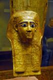 Mummy mask of gilded cartonnage, 1st C. AD