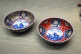 Imari-ware enameled bowls, Edo period, 17-18th C.