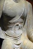 Sandstone Buddha, Tianlongshan Grottoes, Shanxi Province, Tang Dynasty 8th C.