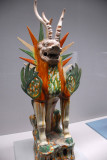 Three-color glaze Tomb Guardian, Tang dynasty (China) 7th-8th C.
