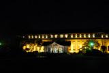 Tokyo National Museum illuminated at night