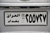 Iraqi license plate - Baghdad